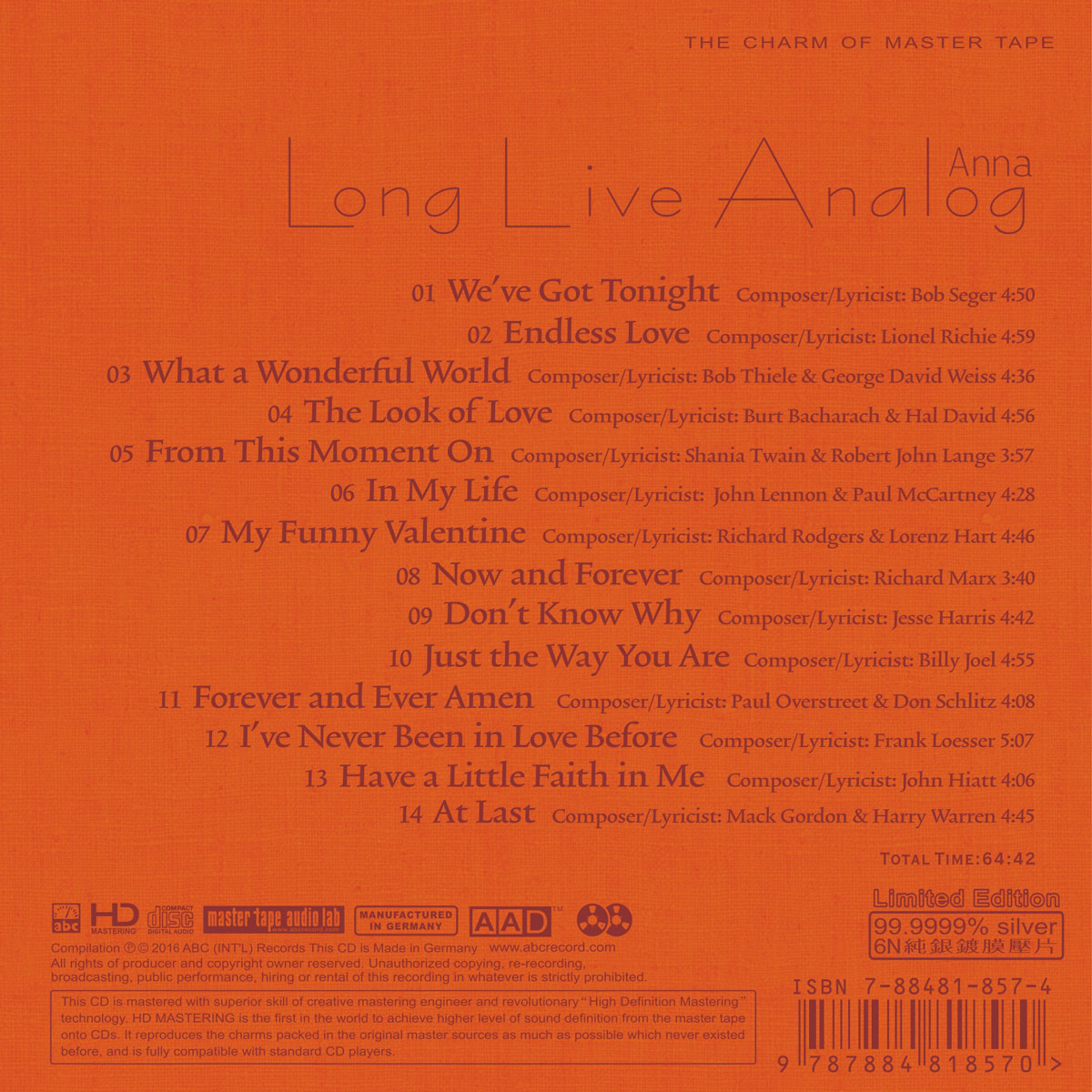 Long Live Analog – Anna: My Funny Valentine